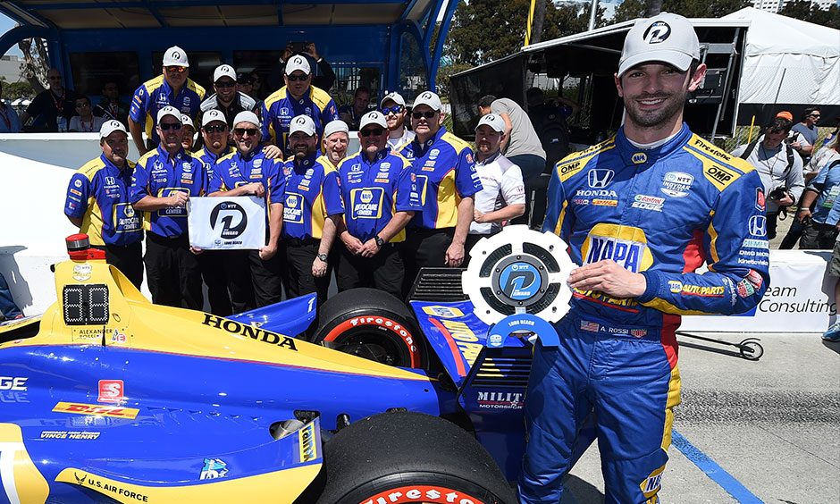 Alexander Rossi NTT P1 Award Long Beach