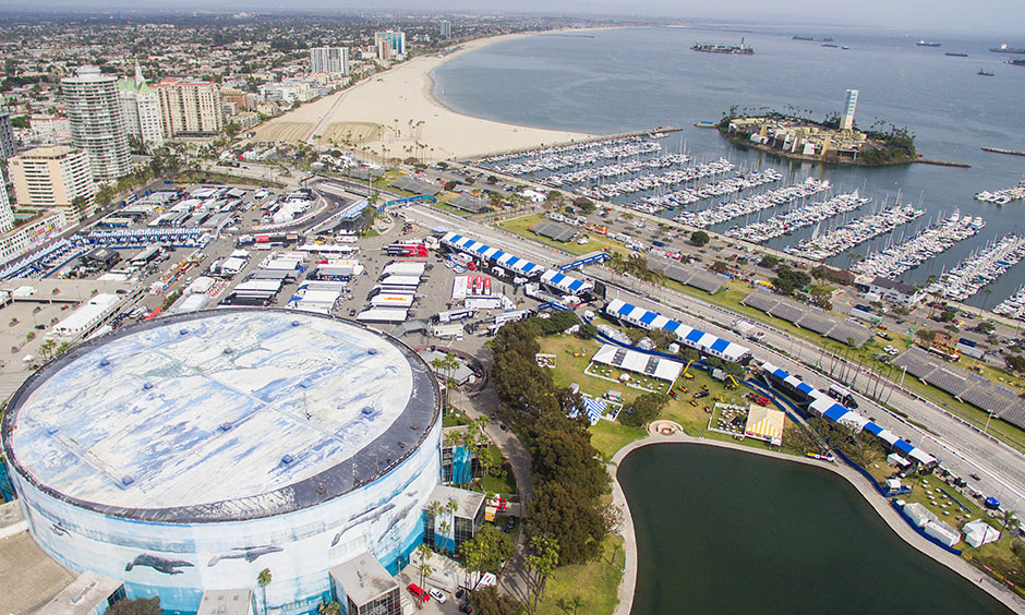 Long Beach track from air