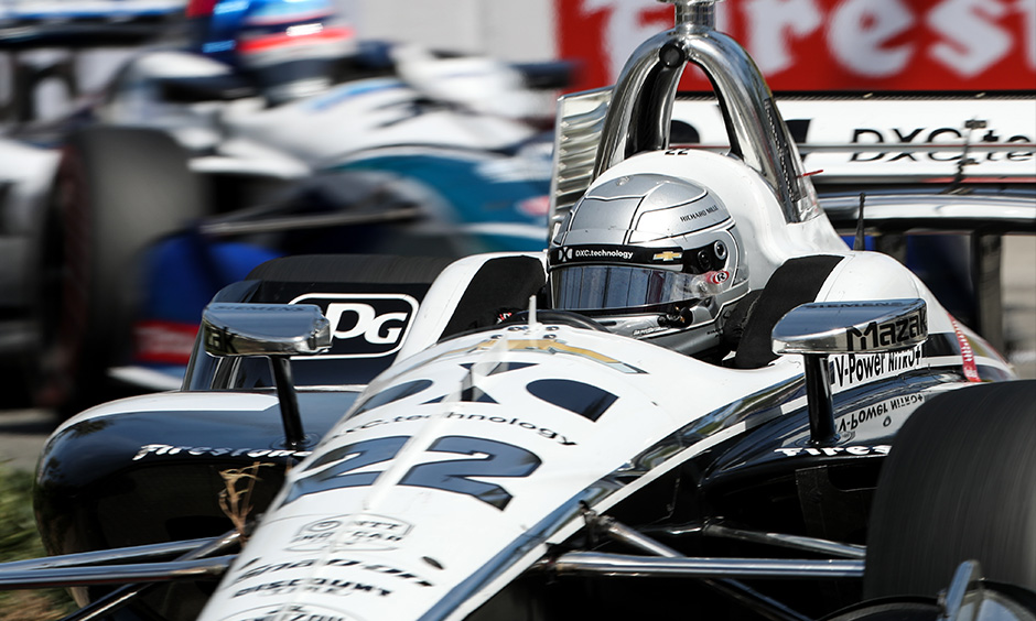 Simon Pagenaud on track Long Beach