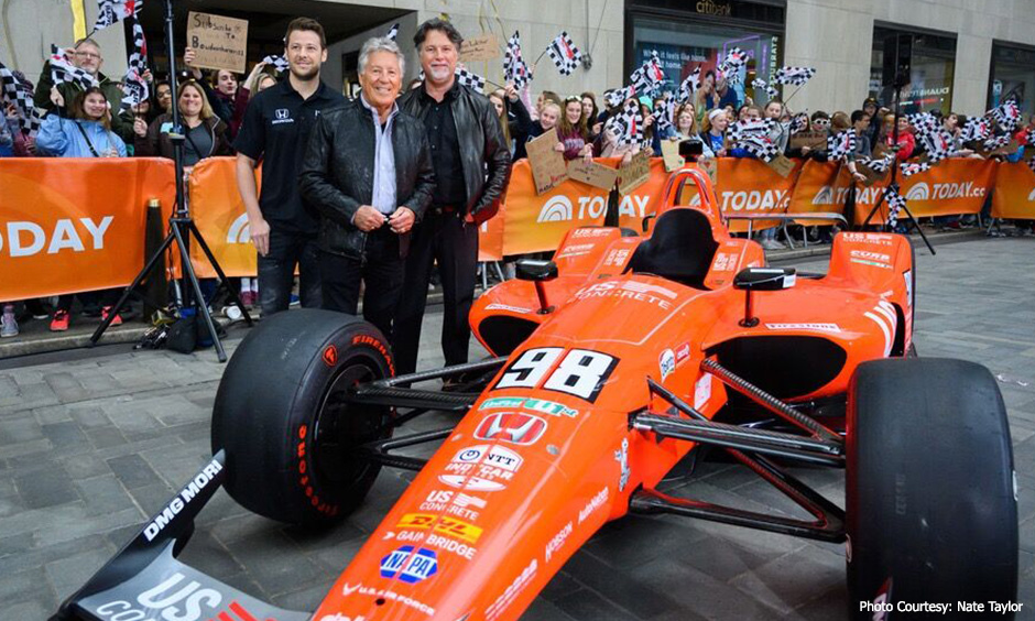 Marco, Mario and Michael Andretti on TODAY show