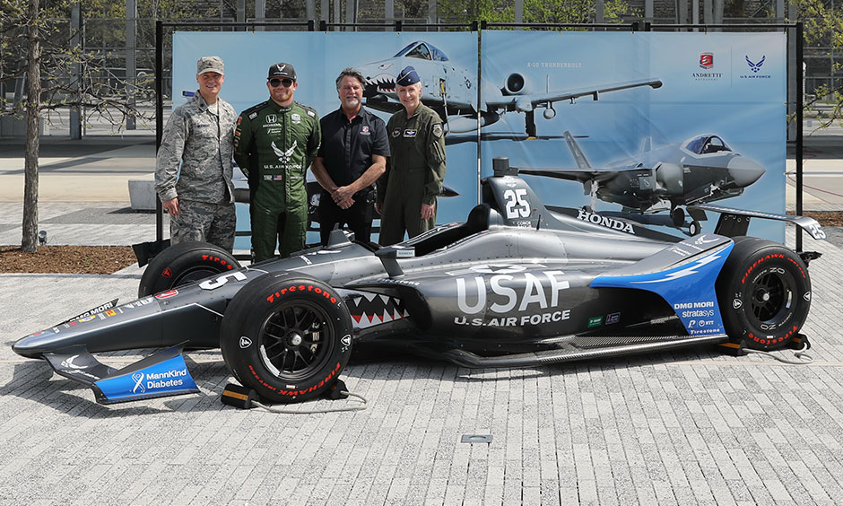 Conor Daly USAF Indy 500 car unveil