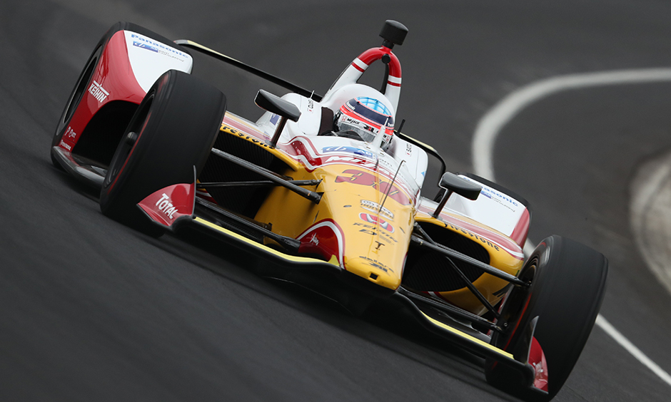 Takuma Sato on track IMS open test