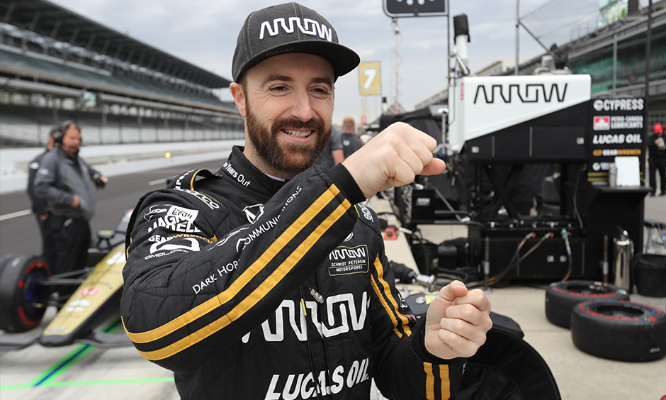 James Hinchcliffe at Indy open test