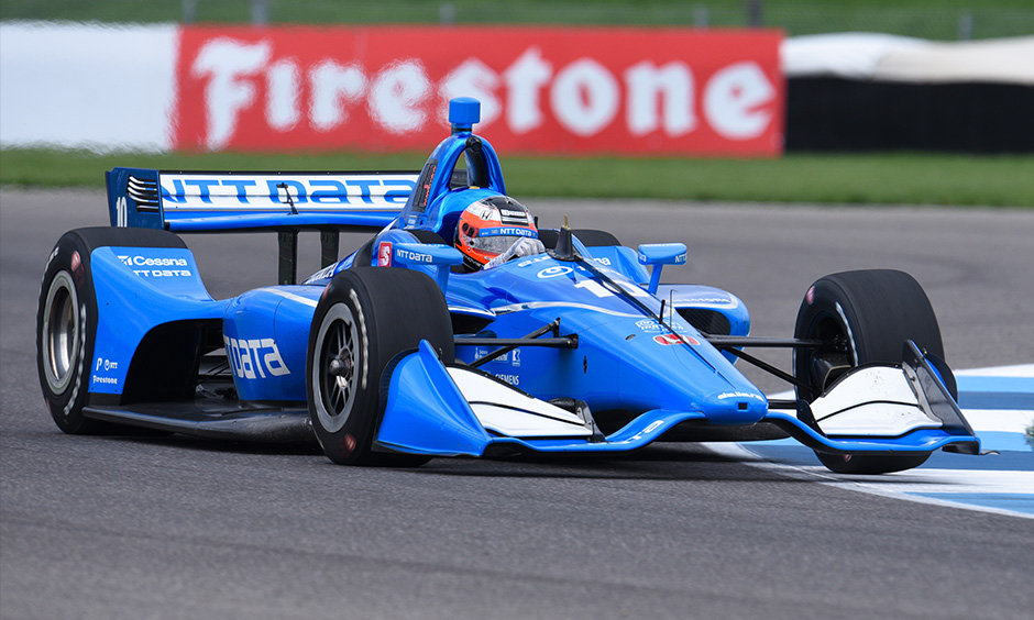 Felix Rosenqvist on track IMS road course test