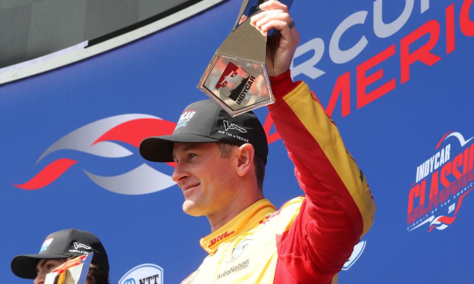 Ryan Hunter-Reay on COTA podium