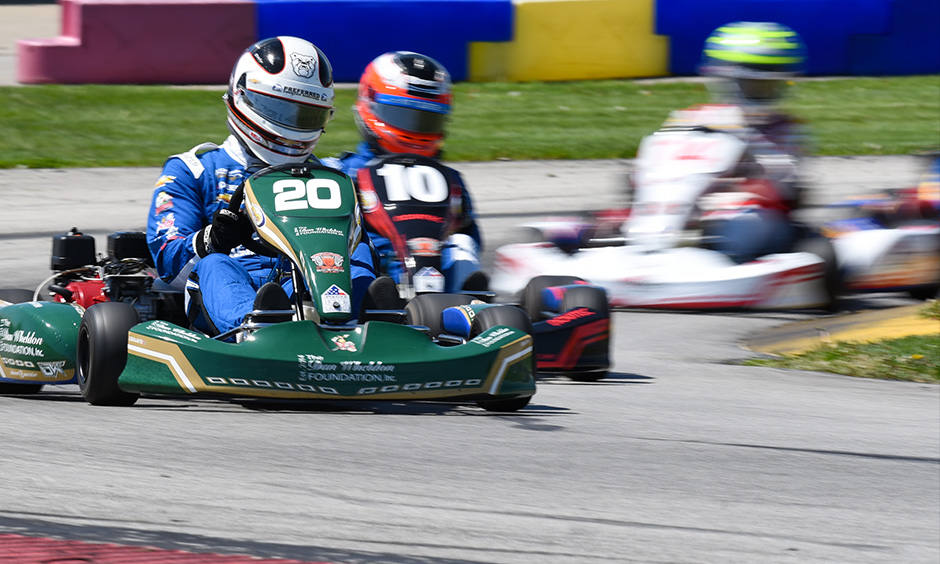 Dan Wheldon pro-am karting event