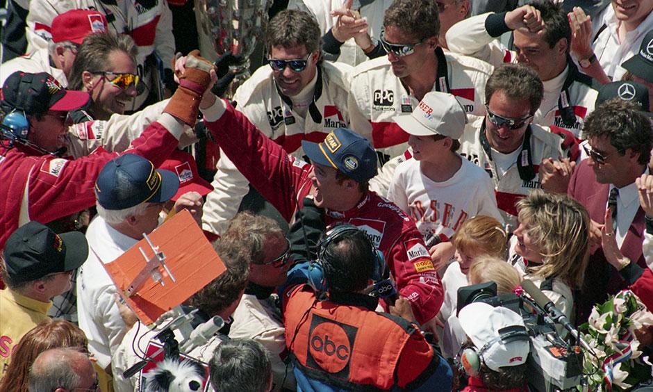 Al Unser Jr. 1994 Indy 500 victory lane