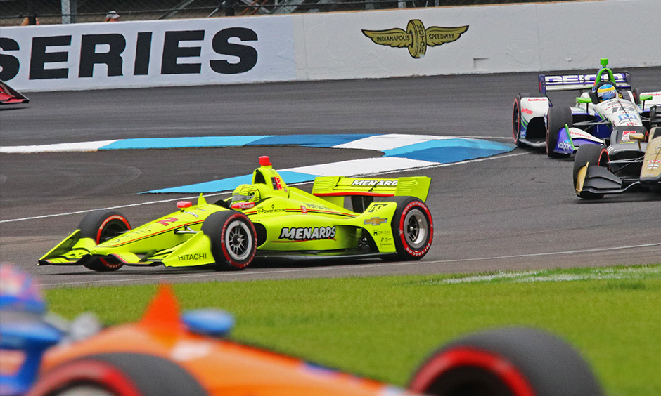 Simon Pagenaud on track INDYCAR Grand Prix