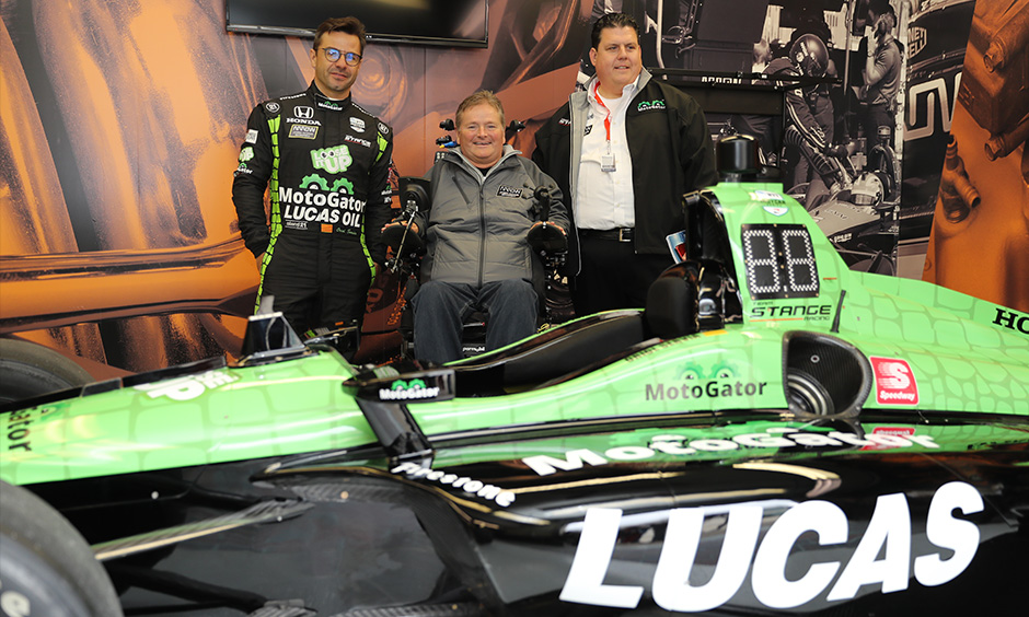 Oriol Servia, Sam Schmidt and John Stange Jr.