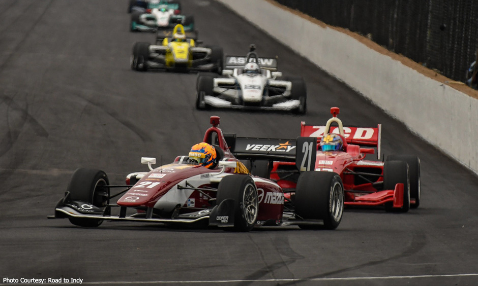 Rinus VeeKay leads Indy Lights race 2 at INDYCAR Grand Prix
