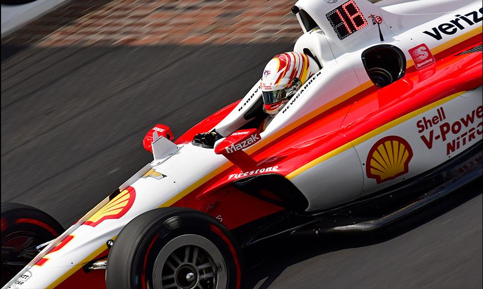 Josef Newgarden on track Indy 500 practice