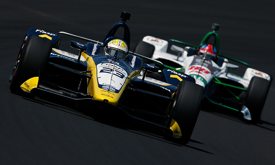 Charlie Kimball on track Indy 500 practice