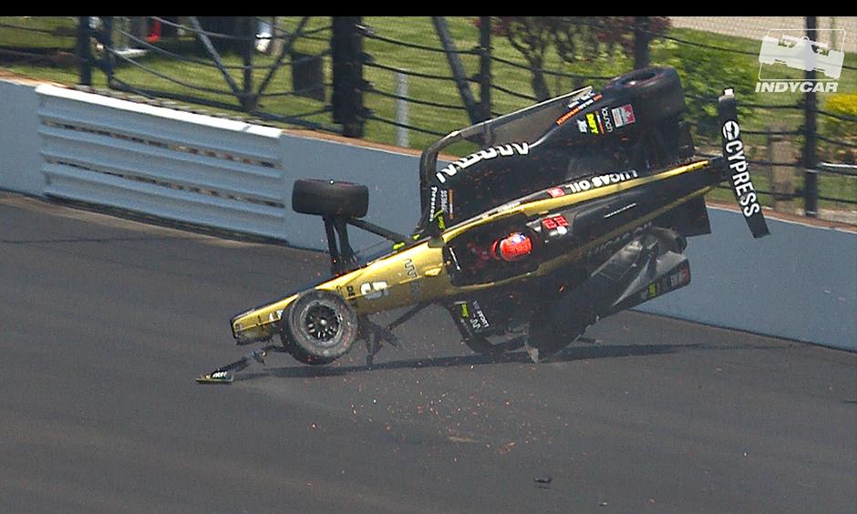 Qualifying Crash Puts Hinchcliffes Indy 500 Bid In Jeopardy