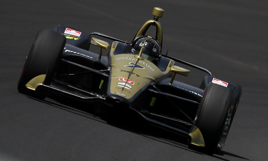 Marcus Ericsson  on track Indy 500 practice