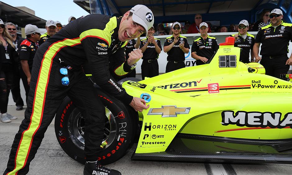 Simon Pagenaud NTT P1 Award Indy 500 qualifying