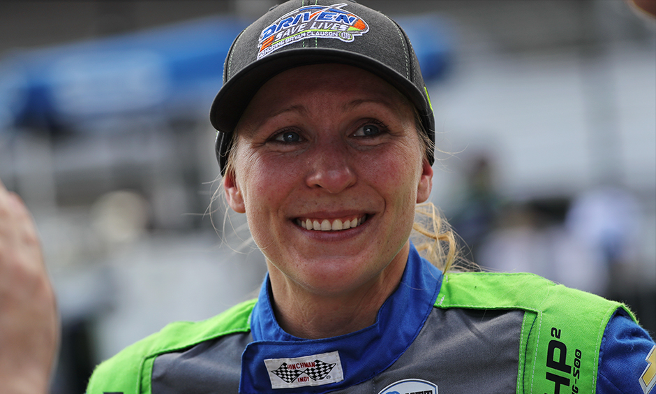 Pippa Mann cries after qualifying for Indy 500