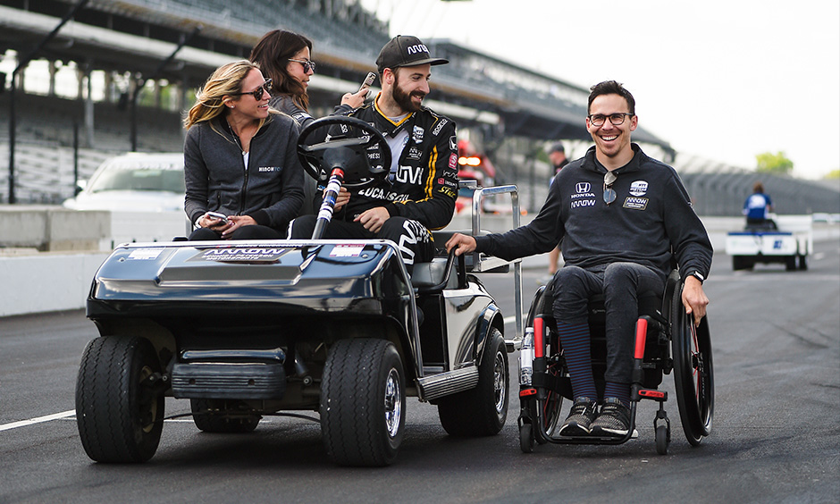 James Hinchcliffe and Robert Wickens