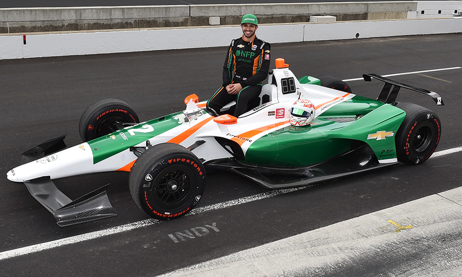 Kyle Kaiser Indy 500 qualifying photo