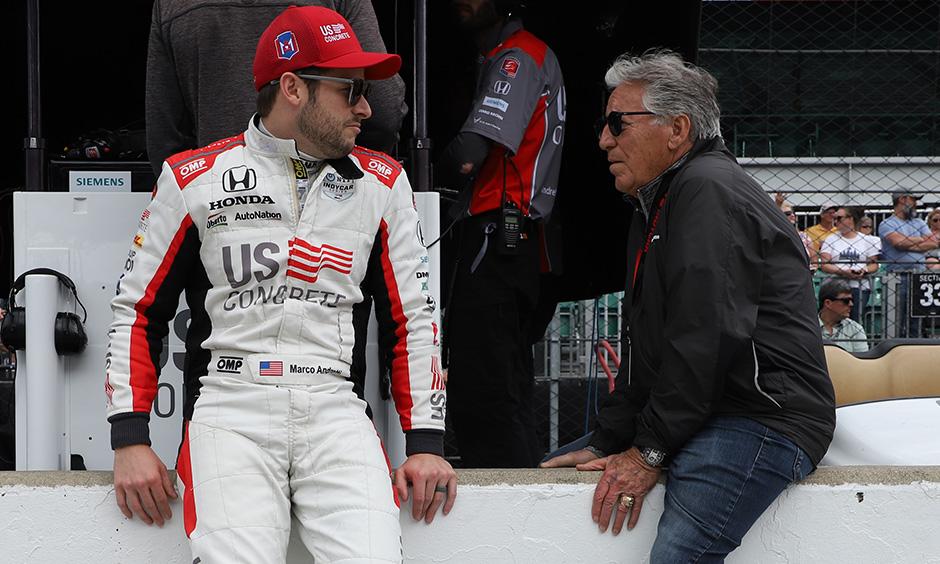 Marco Andretti and Mario Andretti