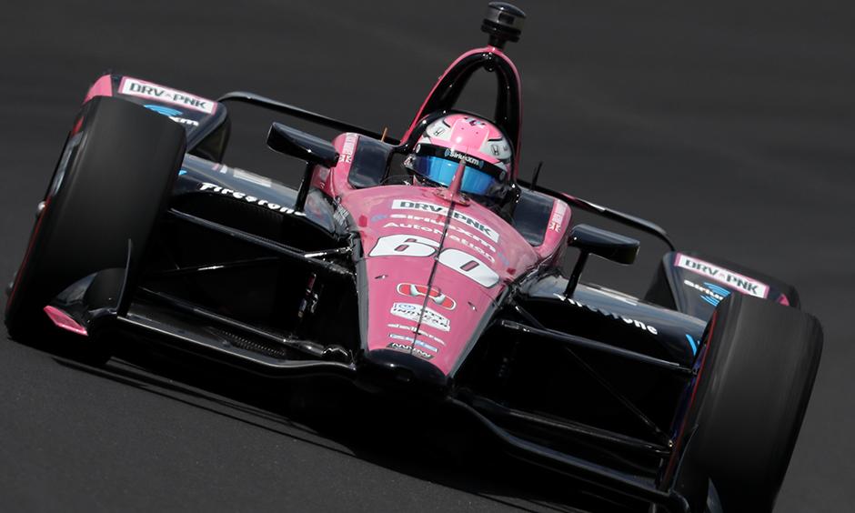 Jack Harvey on track Indy 500