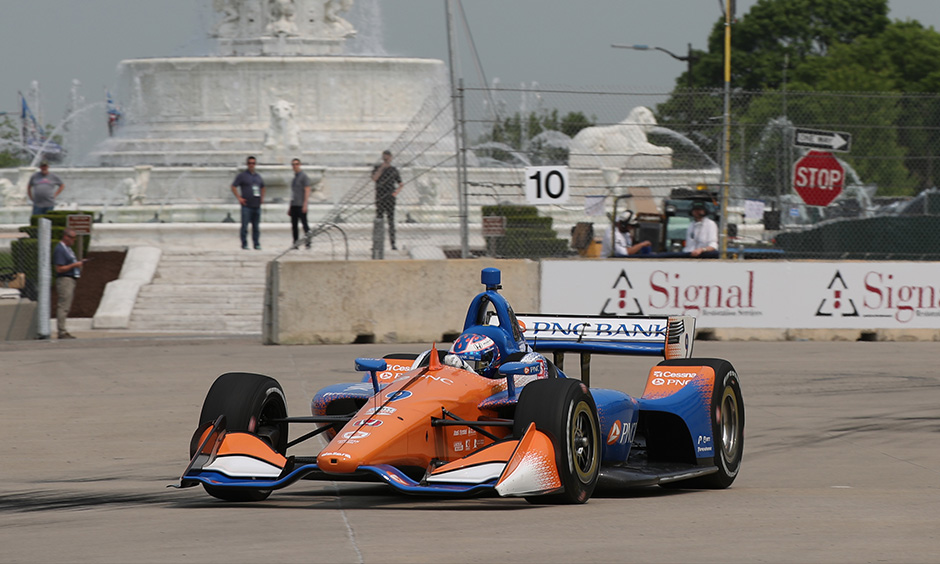 Scott Dixon on track Detroit