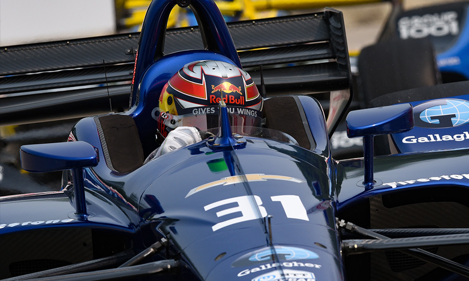 Patricio O'Ward on track Detroit