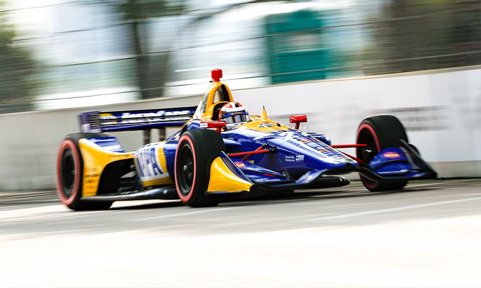 Alexander Rossi on track Detroit
