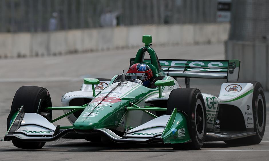 Colton Herta on track Detroit