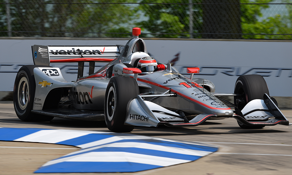 Will Power on track Detroit