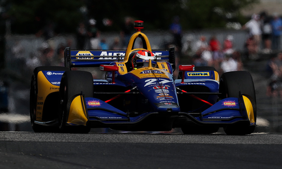 Alexander Rossi on track Road America