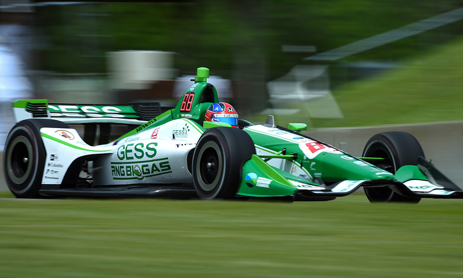 Colton Herta on track Road America