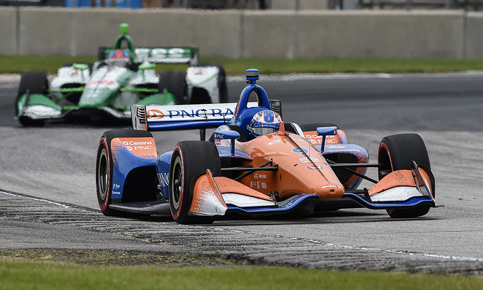 Scott Dixon on track Road America