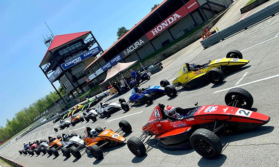 Lucas Oil School of Racing cars at Mid-Ohio Sports Car Course