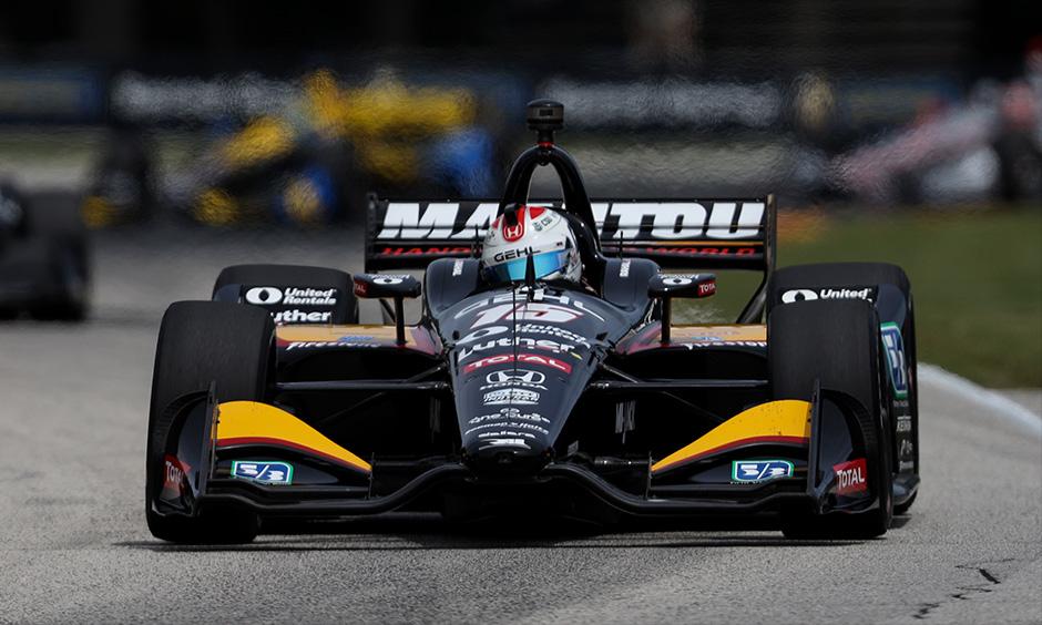 Graham Rahal on track Road America