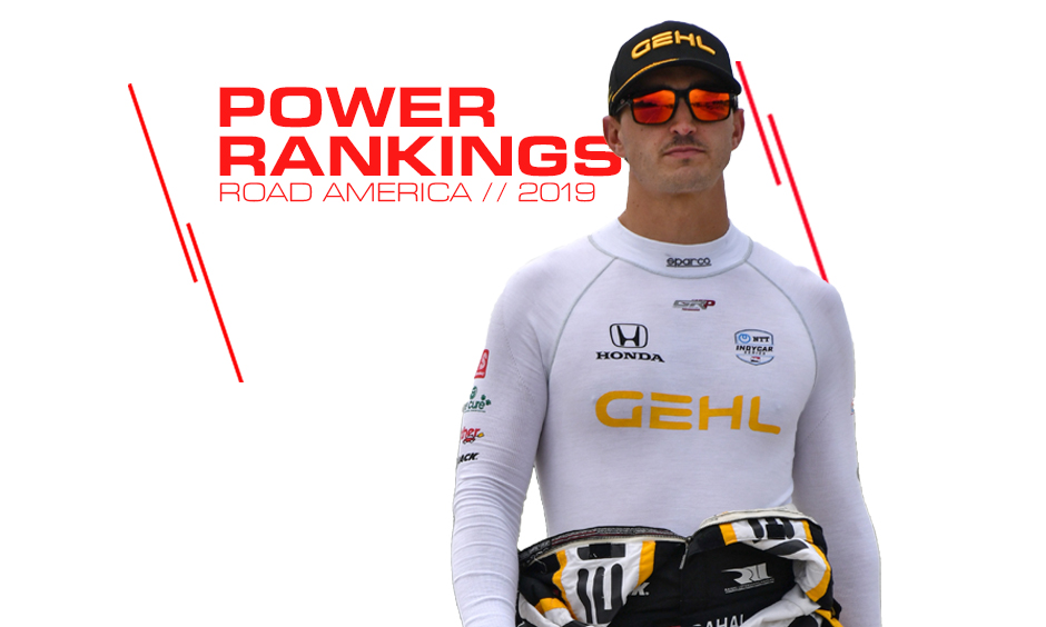 Graham Rahal moves up in INDYCAR's power rankings.