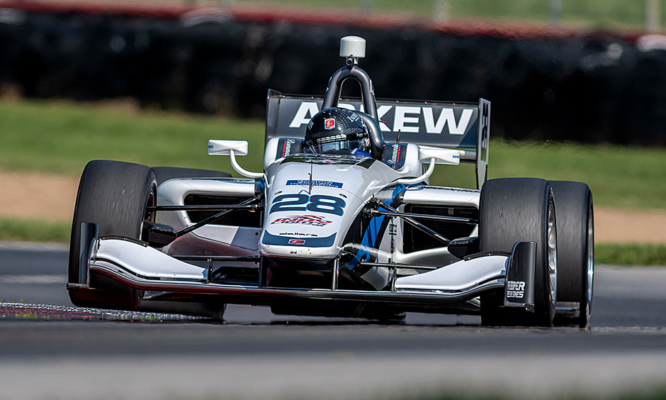 Oliver Akew on track at Mid-Ohio