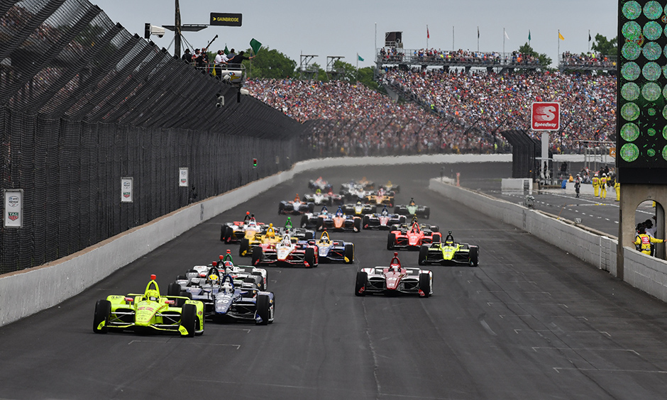 Simon Pagenaud leads the Indy 500 field.