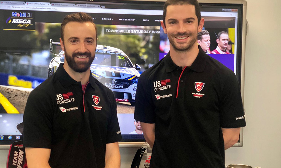 James Hinchcliffe and Alexander Rossi