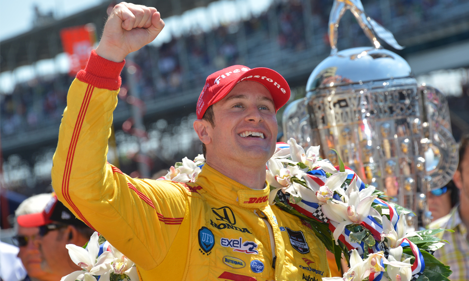 Ryan Hunter-Reay after winning the 2014 Indianapolis 500