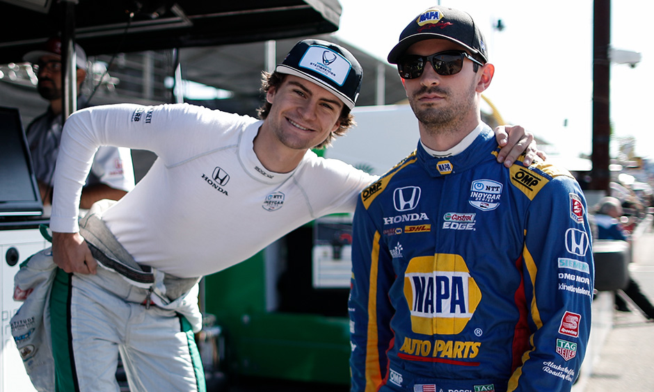 Colton Herta and Alexander Rossi
