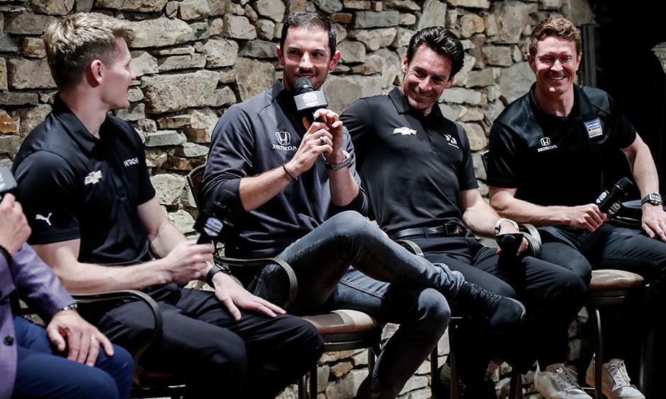 Josef Newgarden, Alexander Rossi, Simon Pagenaud and Scott Dixon
