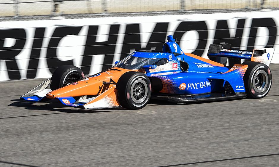 Scott Dixon at Richmond's Aeroscreen test