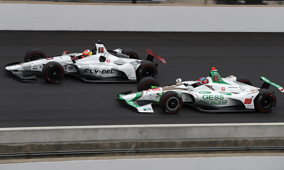 Santino Ferrucci and Colton Herta