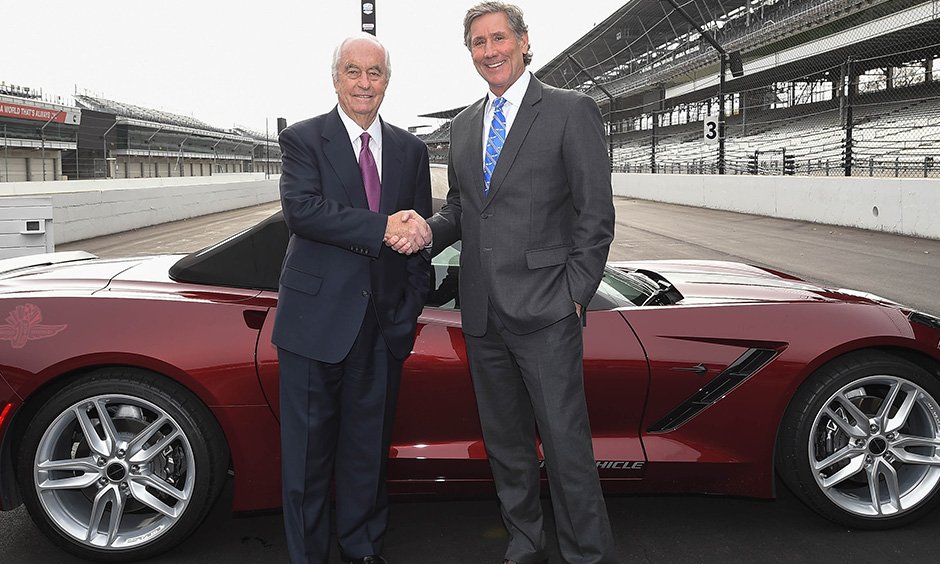 Roger Penske and Tony George