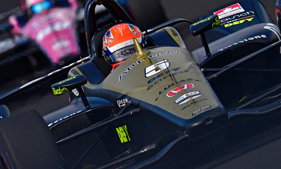 James Hinchcliffe in the Indy 500