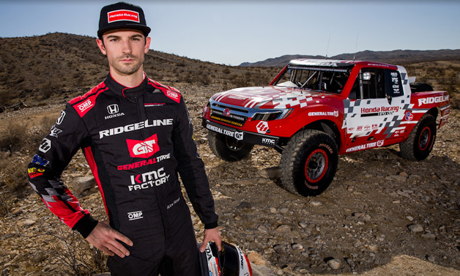 Alexander Rossi is back at the Baja 1000 this weekend.