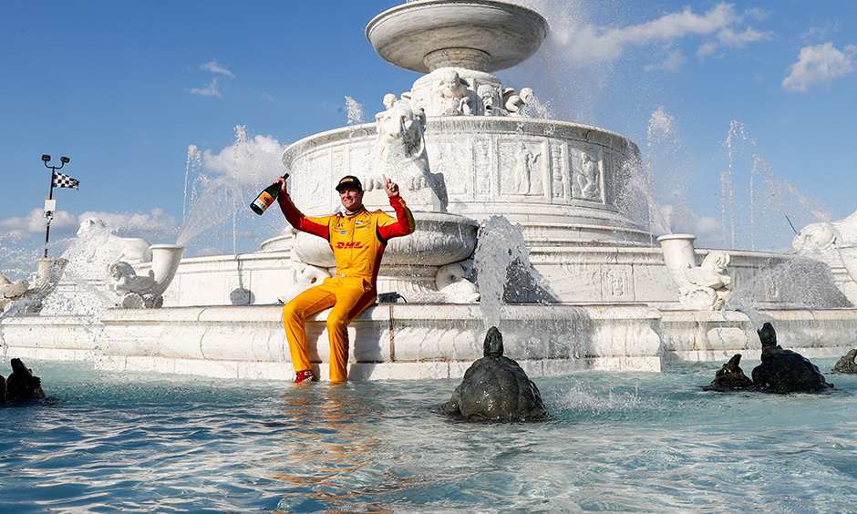 Ryan Hunter-Reay in 2018 at Detroit