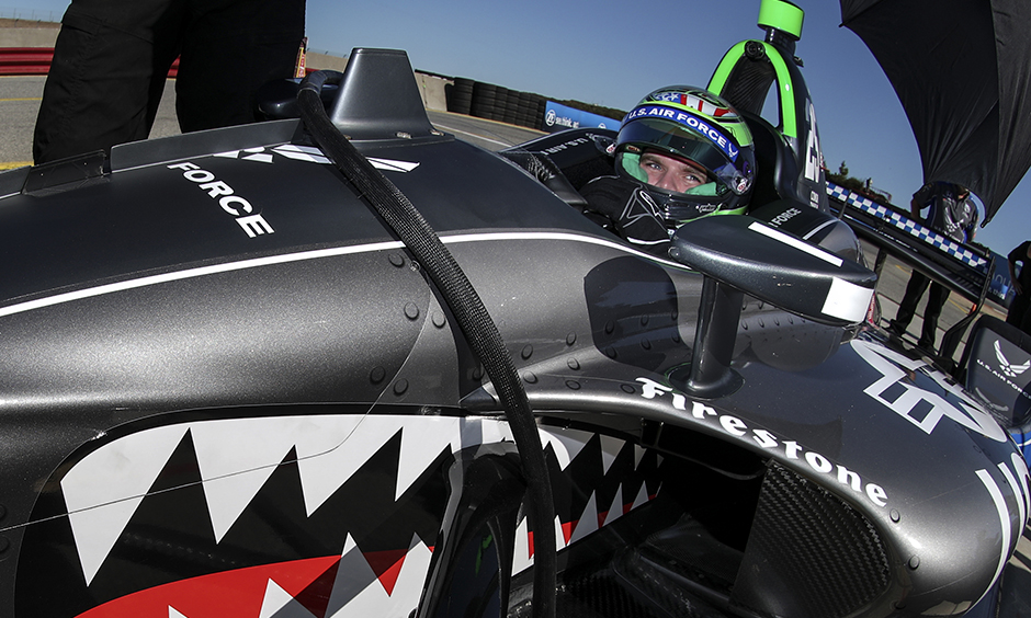 Conor Daly in the U.S. Air Force Indy car
