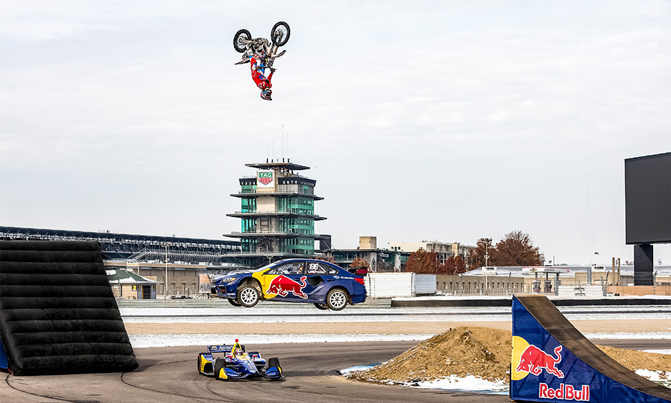 Alexander Rossi in Red Bull video at IMS