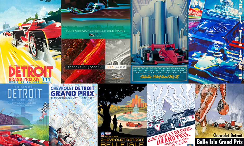 Detroit Grand Prix posters